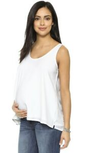 Hatch Maternity Women's THE LAYERING TANK White Size 1 (S/4-6) NEW