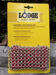 Lodge Cast Iron - Chainmail Scrubbing Pad  perfect for cleaning cast iron pans