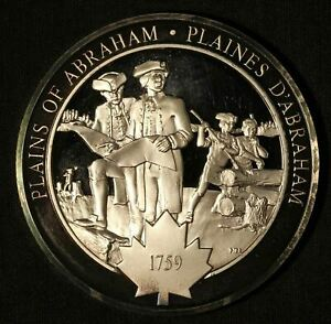 Medallic History of Canada Plains of Abraham Silver Medal Free Shipping USA $49.99