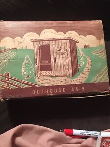 plasticville o scale Dealers Box Outhouses Collectors Item