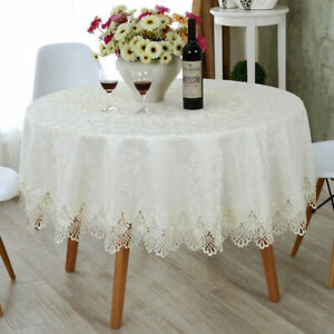 Rectangle Round Cover Home Decorative Elegant Dining De Table Towel