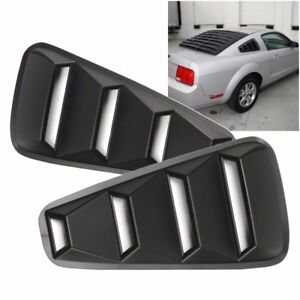 For 2005-14 Ford Mustang 1/4 Quarter ABS Side Window Louvers Scoop Cover Vent
