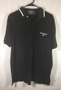 Vintage Polo Sport T Shirt Size Medium 90s Ralph Lauren Black Pocket Polo Shirt $24.99