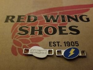Red Wing Boot Lace Keepers Lighting Bolt