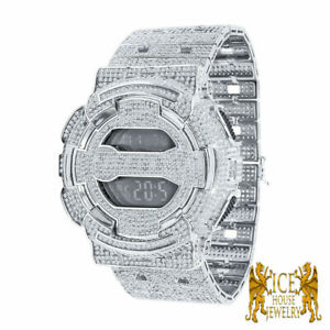 14K Gold Finish Fully icy Designer G Shock Metal Band Custom Digital Watch GD100