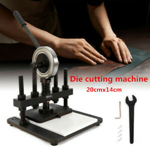 NEW 20x14cm Manual Cutting Machine Hand Die Leather Cutter Height Adjustable USA