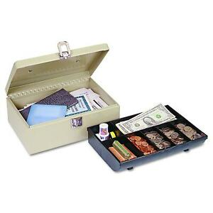 Cash Lock Box Cash Box With Latch Lock Removable 7 Compartment Tray Security New