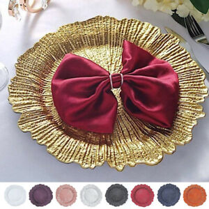 24 pcs 13-Inch Round Reef Charger Plates Wedding Table Top Decorations Sale
