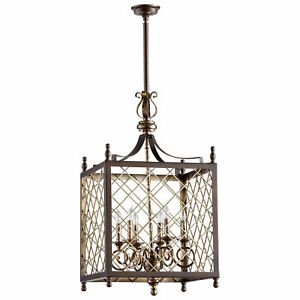 Tuscan Metal Cage 6 Light Pendant Old World Lighting
