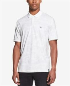 DKNY Camouflage Polo Standard White Mens Large New