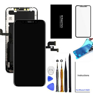For iPhone X 10 LCD Screen Digitizer Assembly Display Replacement Tempered Glass