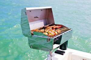 Portable Boat Gas Grill + Mount Accessories Marine BBQ Sailboat Barbecue Camping