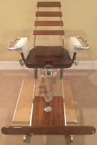 Release Marine Teak Fighting Offshore Fishing Boat Chair Pompanette Style Refurb
