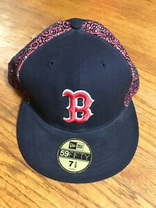 New Era 59FIFTY Size 7- 12 Fitted Boston Red Sox Baseball Hat AA109