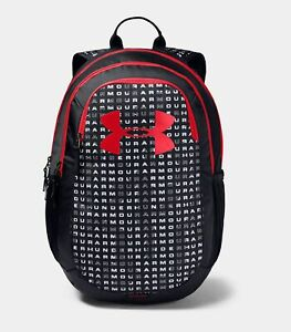 NEW! Under Armour UA Kids' Unisex Scrimmage 2.0 OSFA Backpack, Black Black Red $39.99