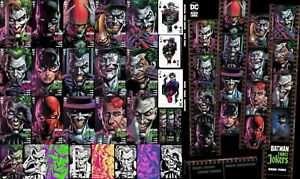 BATMAN Three 3 JOKERS ALL 17 Variants 7 Ratios Fabok PREMIUM HC 1:450 Var SHARK