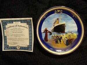 Antique quot;On the Promenadequot; Titanic Queen of the Ocean authentic plateware #2710A $30.00