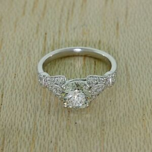 950 Platinum 1.69ct Diamond Art Deco Design Engagement Ring (IH22)