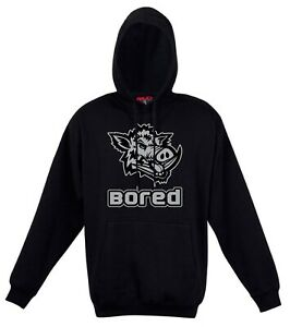 hooded BLACK hoodie FASHION fit GRAFFITI lion POLYNESIAN pig BOAR animal HUNT