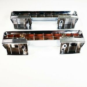 1961 1967 Buick Front Arm Rest Base Chrome Plated Pair LeSabre Invicta Special $38.50