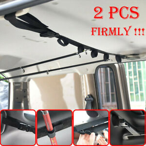 2PCS Fishing Rod Pole Holder Car Trucks Garage Ceiling Strap Rods Rack Organizer