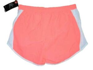 Womens Under Armour Heatgear Lined Loose Fit Athletic Running Shorts Coral Sz-M