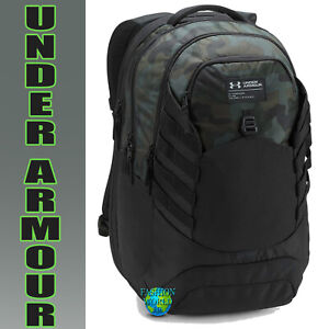 Under Armour Hudson Backpack Laptop Woodland Camo Black Artillery Green $73.99