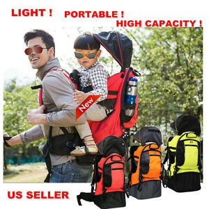 Deluxe Adjustable Baby Carrier Outdoor Light Hiking Child Backpack Camping Local