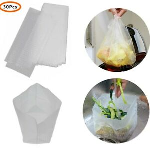 30pcs Drain Bags Kitchen Garbage Bags with Holes Sink Strainer Basket Bags Tool