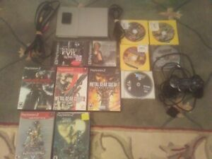 Sony PlayStation 2 Slim 90001 PS2 Slim Silver Console Bundle Lot Parasite Eve II