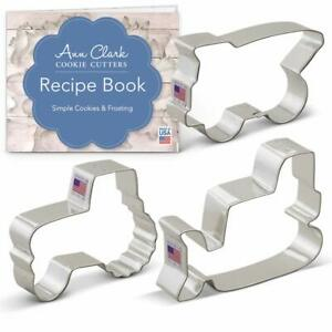 Construction Vehicles/Machines Cookie Cutter Set With Recipe Book - 3 Piece - Bu
