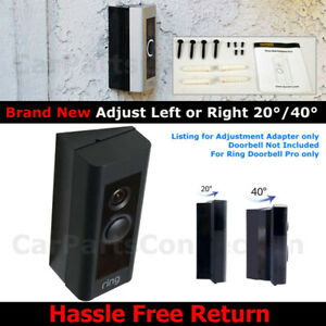 For Ring DoorBell PRO adjustable Angle Bracket Adapter 20 40 Degree NEW IN BOX $12.49