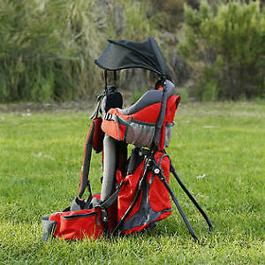 Outdoor Baby Kid Toddler Light Backpack Camping Hiking Child Carrier Red