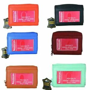 Wholesale Leather Palm Size Accordion Style Credit Card ID Wallet Assorted Color