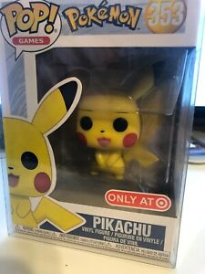 (1) Funko Pop! Games Pokemon PIKACHU #353- IN HAND *Comes with free protector*