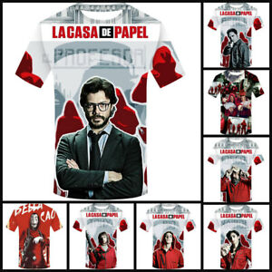 NEW Tokyo La Casa De Papel T-shirt  Money Heist Salvador TV Series Sleeve Summer
