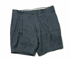 ORAZIO LUCIANO Napoli Blue Denim Shorts 32 (EU 48) Made in Italy