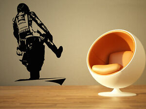 Wall Sticker Bike Motorcycle Racer Wheels Boys Vinyl Mural Decal Decor ZX926