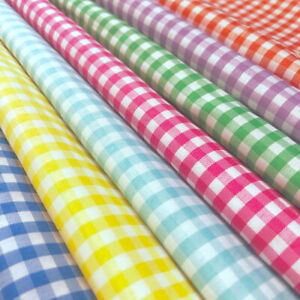 Gingham 1 8quot; Wide Square Fabric 60quot; Wide Checkered Plaid Design By The Yard $4.99