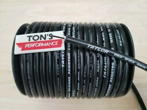 8mm BLACK RESISTOR CORE SILICONE SPARK PLUG WIRE TAYLOR PRO WIRE sold by foot $1.58