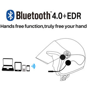 Motorcycle Helmet Bluetooth Headset Mic Handsfree Stereo Music for Tablet Phone