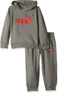 Puma Big Boys Hoodie and Jogger Pants Set Black $32.99