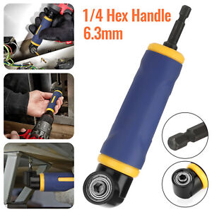90°Right Angle Drill Adapter Extension Screwdriver Socket Holder Attachment Tool $14.48