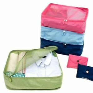 Portable Travel Storage Bags Waterproof Nylon Clothes Mesh Packing Luggage Pouch