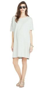 HATCH Maternity THE AFTERNOON DRESS Cotton Blue Striped Size 3 (LRG/12) NEW