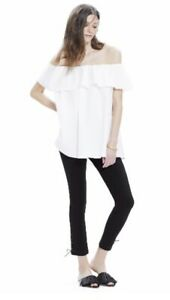 Hatch Maternity Women's THE CHLOE TOP White Size O/S (ONESIZE) NEW