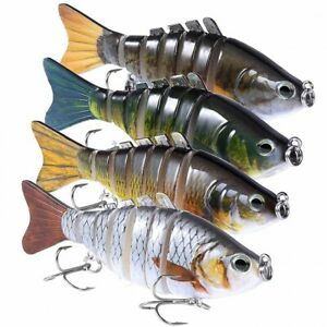 Multi Jointed Trout Swimbaits Crankbaits Popper Lures For Bass Fish Tackle Kits