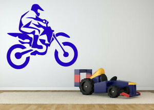 Wall Sticker Bike Biker race Motorcycle Boys Room Vinyl Mural Decal Decor ZX1021