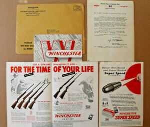 Winchester Information Package with Letter, Ammunition Price Catalog, and Flyers