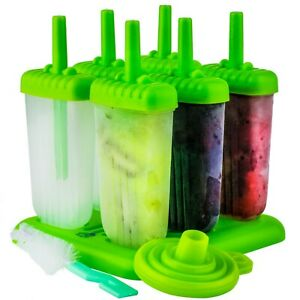 Ice Pop Maker Popsicle Mold Set with Tray and Drip Guard Green Pack of 6